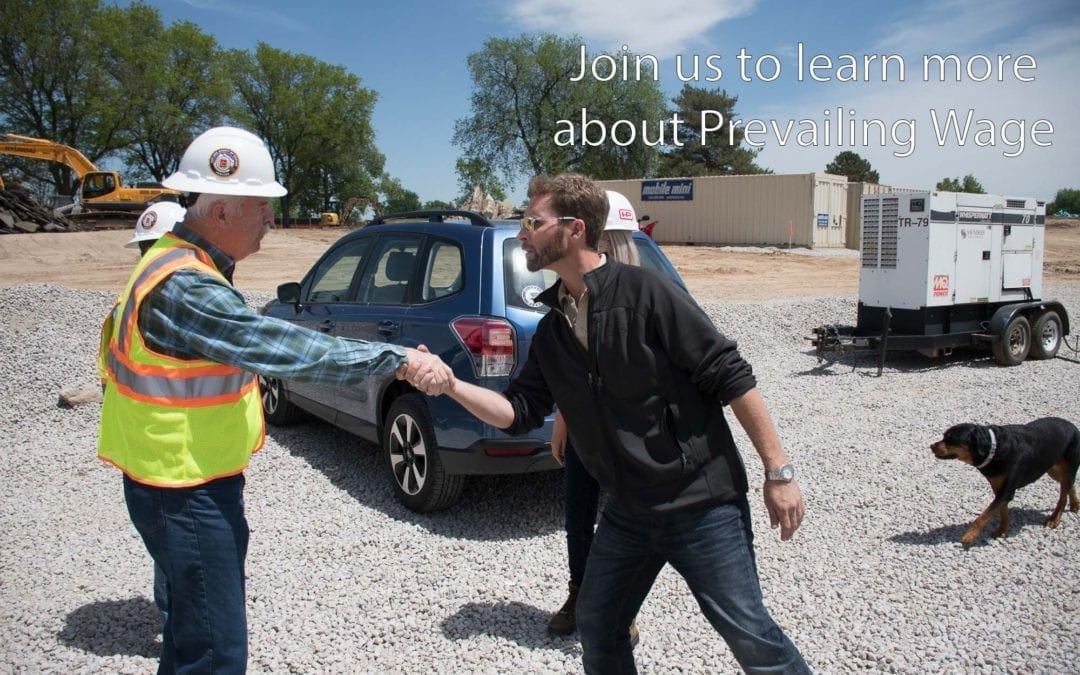Join us to learn more about Prevailing Wage